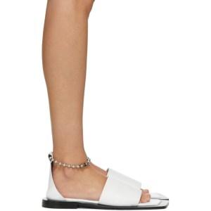 Flat Apartment White Chain Strap Sandals