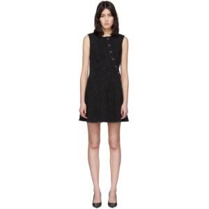 Mugler Black Denim Mini Dress