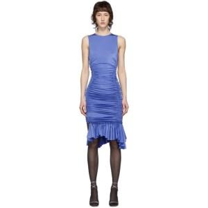 Mugler Blue Ruched Dress