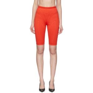 Mugler Red Scuba Shorts