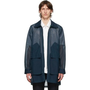 Cornerstone Reversible Navy Mesh Jacket