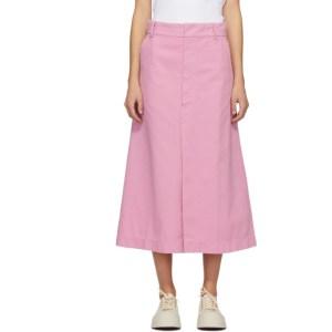 Rika Studios Pink Denim Blush Skirt