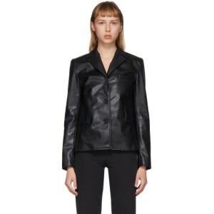 Commission SSENSE Exclusive Black Faux-Leather Cabin Jacket