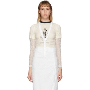 Commission SSENSE Exclusive White Lace Beach Cardigan
