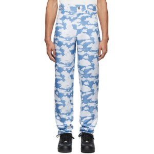 Phlemuns Blue and White Cloud Trousers