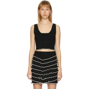 Victor Glemaud Black Knit Cropped Tank Top