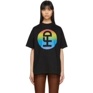 Honey Fucking Dijon Black Large Rainbow Logo T-Shirt