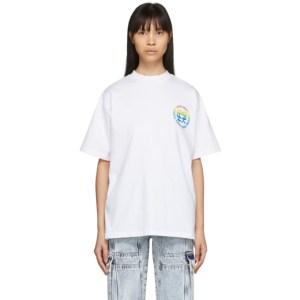 Honey Fucking Dijon White Small Rainbow Logo T-Shirt