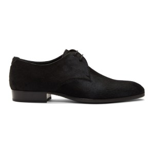 Saint Laurent Black Pony Hair Wyatt Derbys