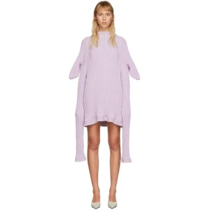 Christina Seewald SSENSE Exclusive Purple Knitted Shewee Dress