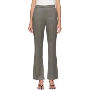 LVIR Khaki Summer Wool Slit Trousers