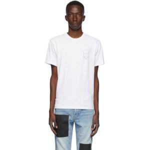 Benjamin Edgar SSENSE Exclusive White and Blue Box T-Shirt