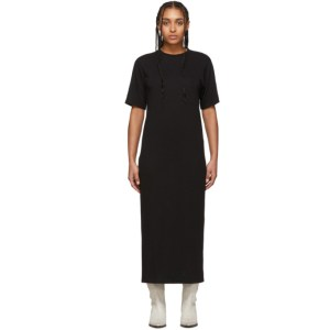 AMI Alexandre Mattiussi Black T-Shirt Dress