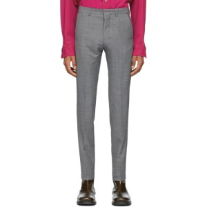 AMI Alexandre Mattiussi Grey Cigarette Fit Trousers