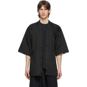 Naked and Famous Denim Black Haori Jacket