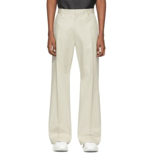 Marcelo Burlon County of Milan Beige Cross Trousers
