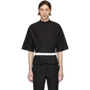 Haider Ackermann Black Wrap Belt Shirt