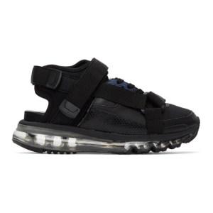 Miharayasuhiro Black Half and Half Sandals