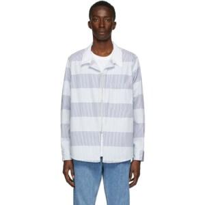 Eytys Blue and White Stripe Daytona Jacket