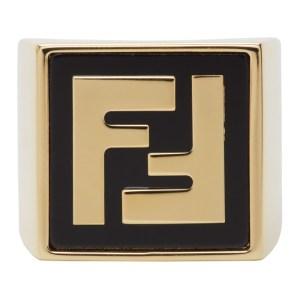 Fendi Gold Forever Fendi Signet Ring