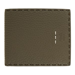 Fendi Green Leather Roman Bifold Wallet