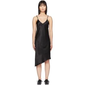 Marques Almeida Black Twisted Seam Slip Dress