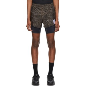 Satisfy Brown Leopard Trail Long Distance 3 Shorts