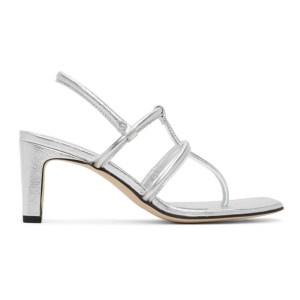 Dorateymur Silver Thong Heeled Sandals