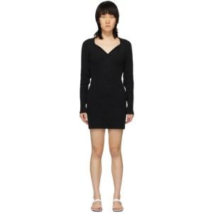 Unravel Black Cashmere V-Neck Dress