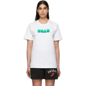 Noah White Gradient Logo T-Shirt