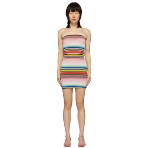 Missoni Multicolor Striped Strapless Dress