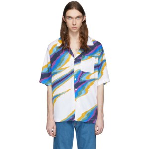 Missoni White Printed Short Sleeve Shirt