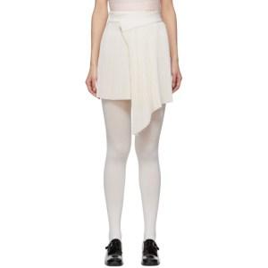 Shushu/Tong White Pleat Miniskirt