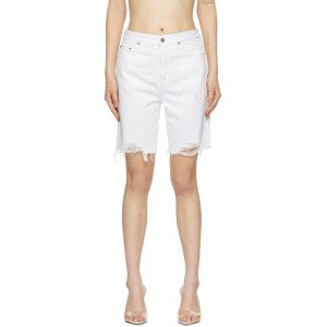 Grlfrnd White Denim Marjan Shorts