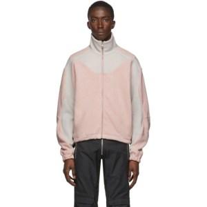 GmbH Grey and Pink Fleece Ercan Jacket