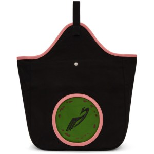Kiko Kostadinov Black and Pink Aristides Embroidery Tote