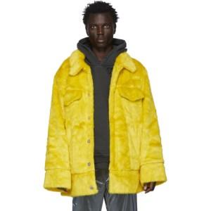 Landlord Yellow Faux-Fur Jacket