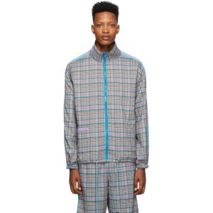 Landlord Multicolor Plaid Track Jacket