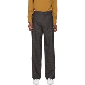 HOPE Khaki Jacquard Wind Trousers