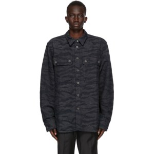 Diesel Black and Grey Denim D-Jessy-SP Shirt