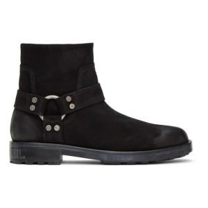 Diesel Black Suede D-Throuper DBB Boots