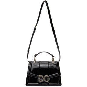 Dolce and Gabbana Black Patent DG Amore Bag