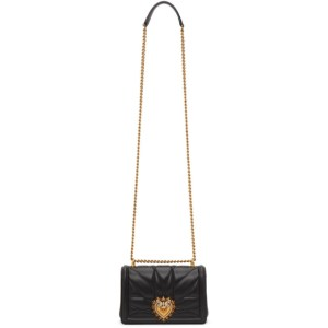 Dolce and Gabbana Black Small Devotion Bag