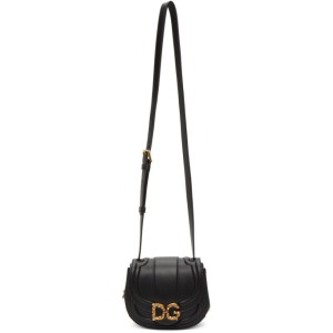 Dolce and Gabbana Black Small DG Amore Bag