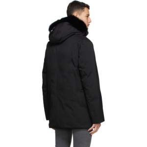 Mackage Black Down and Fur Edward Coat