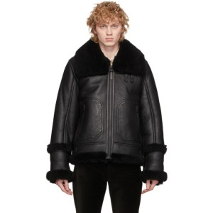 Mackage Black Sheepskin Hunter Jacket