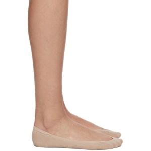 Wolford Beige Cotton 40 Footsies Socks