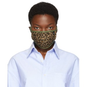 R13 Tan and Green Surplus Leopard Mask