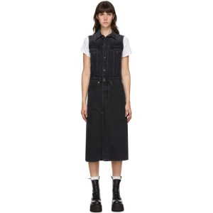 R13 Black Nico Trucker Coat Dress