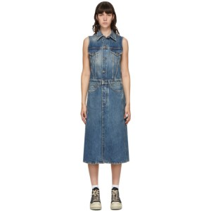 R13 Blue Nico Trucker Coat Dress